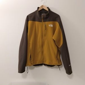 Sale The North Face mustard and brown men's jacket